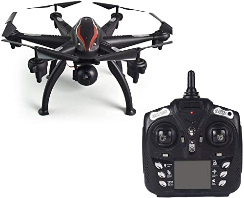 Erduo L100 6-Achsen 1080P Weißwinkel 2,4G RC Drohne Quadcopter Flugzeug Flugzeug WiFi FPV Dual GPS 180 ° verstellbare Kamera-Fernbedienung - Schwarz
