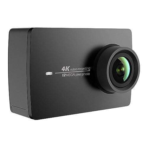 YI 4K Caméra Action Cam Sport Commande Vocale Full HD 12MP WiFi 155° Grand Angle 4K 30fps Enregistrement Video Rétine Ecran Tactile 2.2 - Noire