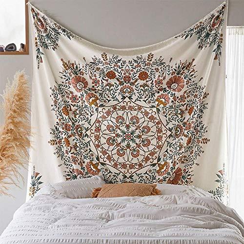 AdoDecor Tapiz de Pared Mandala decoración Bohemia Floral Tapiz Colgante de Pared Tela de Tela Mandala Boho Pared Carpe 150x100cm