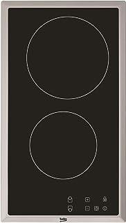 Plaque Vitrocéramique 2 feux-Beko HDMC32400TX - Plaque de cuisson Vitrocéramique - Dimensions produit (LxP en cm) : 30 / 51
