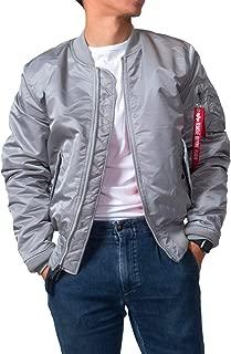 (アルファインダストリーズ) ALPHA MA-1 メンズ ミリタリー ジャケット 中綿 グレー 秋冬 アウター XS S M L XL XXL