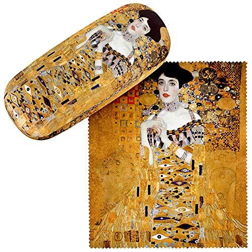 VON LILIENFELD VON LILIENFELD Brillenetui Gustav Klimt Adele Brillenputztuch Brillenbox Stabiles Hardcase Set mit Putztuch