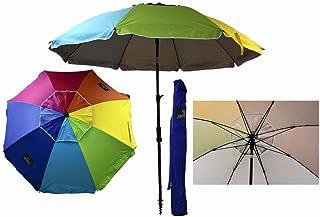Sombrilla Crevicosta - Sombrilla con espiral, aluminio reforzado, diseño Orgullo, 200 cm de diámetro de parasol