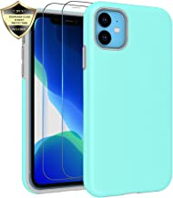 iPhone 11 Case, Androgate Hybrid Matte Protective Back Cover Bumper Case for Apple iPhone 11 2019 6.1 inch, Mint Green