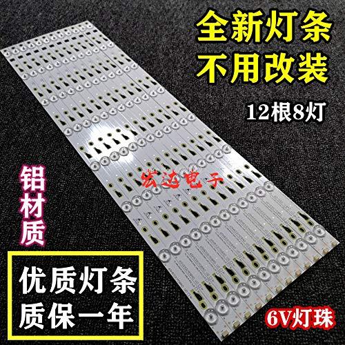 Bombilla LED para 6 V Thomson 65UA6606 L65E5800A 4C-LB650T-YH3 LVU650CMDX 4C-LB650T-VH3 TCL_ODM_650d30_3030C_12