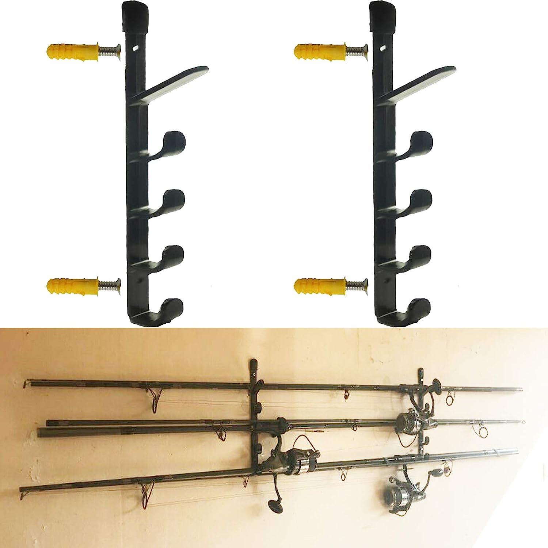 Pmsanzay Charlotte Mall Fishing Rod Wall Storage Superior for Pole Holder Rack