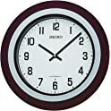 "Seiko Easton 15"" Walnut / Brushed Nickel Musical Wall Clock"