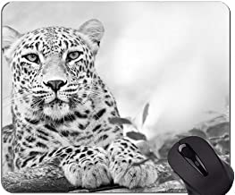 Mouse Pad with Locking Edge,Tawny Leopard Mouse Pad with Stitched Edge