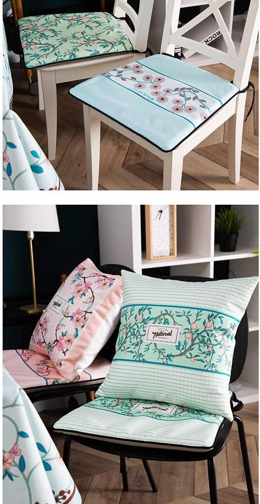 HXF Coussin de chaise antidérapant pour table de salle à manger et chaise amovible et lavable (couleur : E) C