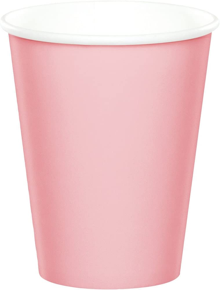 Creative Converting Celebrations 96-Count 9 oz. Hot/Cold Cups, Classic Pink -