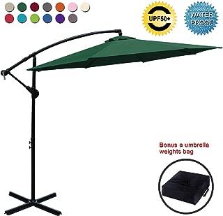 cantilever garden parasols