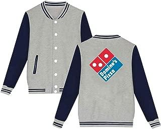Mens Womens Unsiex Baseball Domino's Pizza Sweater Long Sleeve Jumper Sweat Baseball Jacket for Men Women