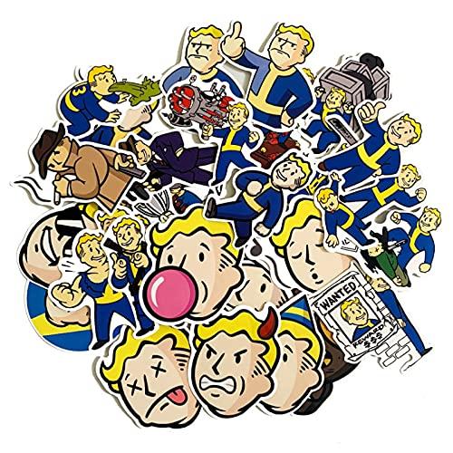 LMY Fallout Pegatinas de dibujos animados 4 Juego Personalizado Pvc Impermeable Graffiti...