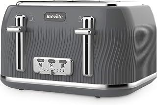 Breville VKT892 Flow 4-Slice Toaster with High-Lift & Wide Slots, Grey