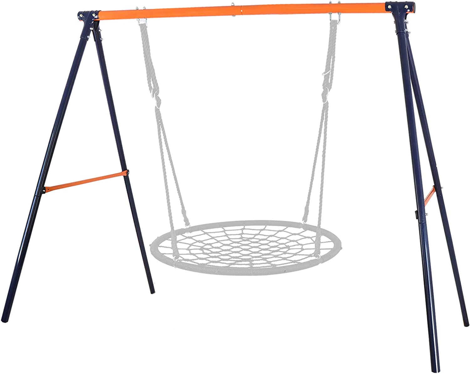 HomGarden All-Steel A-Frame Set Swing Stand Large Heavy Duty 72