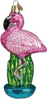 Old World Christmas Tropical Bird Glass Blown Ornament (Flamingo)