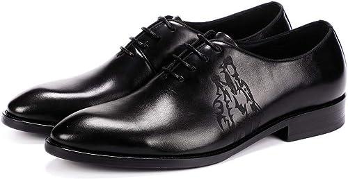 MALPYQ Chaussures d'affaires pour Hommes, Nouvelles Chaussures d'été pour Hommes en Cuir, Chaussures d'affaires pour Hommes