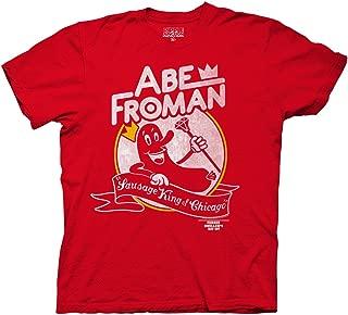 Ferris Bueller's Day Off Adult Unisex Abe Froman Heavy Weight 100% Cotton Crew T-Shirt