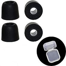EKIND 2 Pair Isolation Noise Cancelling Memory Foam Ear Earbuds, Replacement Ear Buds for in Ear Earphones, for Jaybird Bose SoundTrue Ultra, Rowkin, SoundPEATS QY7 & More (Black)
