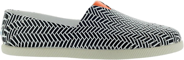 Native Men's Verona Black Shell White  Foxtail orange Slip ON shoes US 9