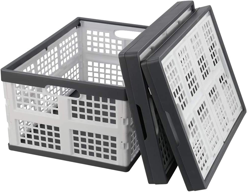 Max 87% OFF Yubine 3 Packs Small Milk Crate Quart gift Collapsible Cr 16 Storage