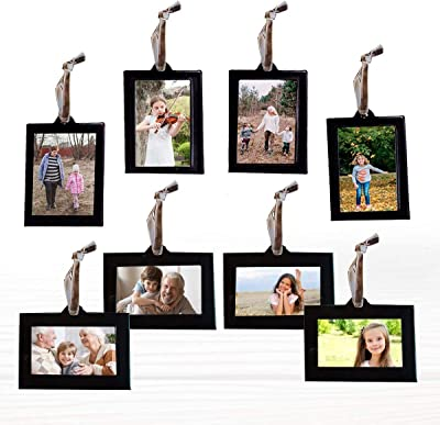 Collage Organizer Ajustable Wood Wall Picture Photo Decor+30 Clips Hanging Frame