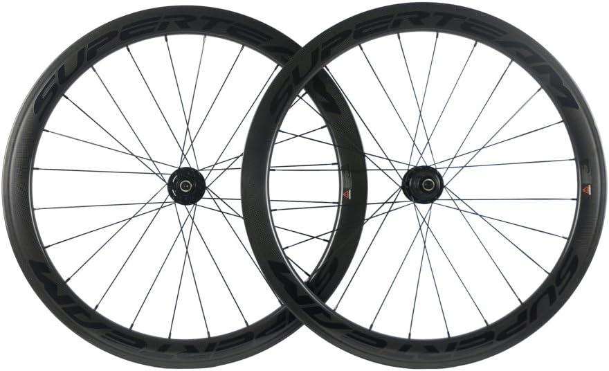 Superteam Carbon Bargain quality assurance sale Fiber Road Disc Brake Wheelset Wh Clincher 50mm