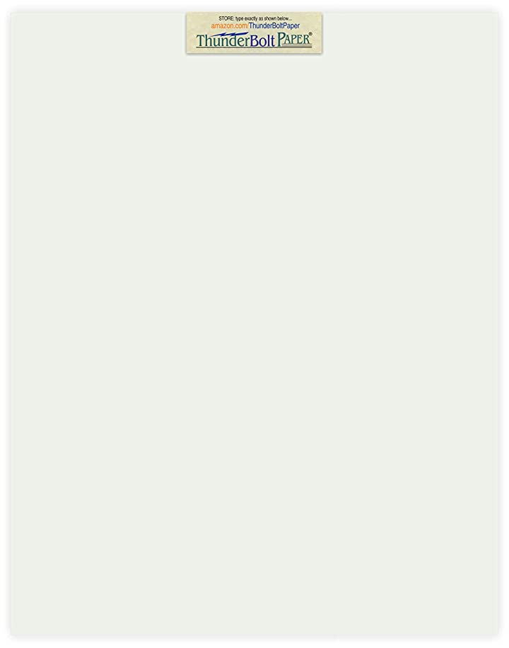 25 Off-White Translucent 17# Thin Sheets - 11 X 14 Inches Scrapbook|Picture-Frame Size - 17 lb/Pound Light Weight Fine Quality Paper - Tracing, Fun or Formal Use - Light Gray, Not a Clear Transparent