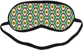 Vintage Fashion Black Printed Sleep Mask,Groovy Bauhaus Design Art Motifs Funky Geometric Minimalist Retro Unusual Tile for Bedroom,7.1