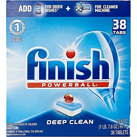 Amazon.com: Finish All In 1, Dishwasher Detergent - Powerball ...