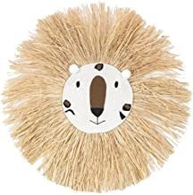 Yililay Wall Opknoping Lion Hangende Decoraties Woven Lion Head Ornament Handgemaakte Cartoon Wall Decor Stijl 3