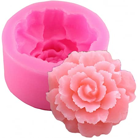 Grainrain Peony Flowers White Diy Craft Art Handmade Soap Making Molds Flexible Soap Mold Silicone Soap Mould Soap
