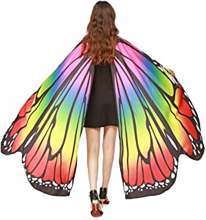 Butterfly Wings Costume,Poncho Nymph Pixie Women Soft Fabric Party Women