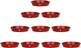 Kraft Seeds Planter Gamla Bottom Plate/Tray 6 Inches Diameter for Planters (Pack of 10 Pieces)