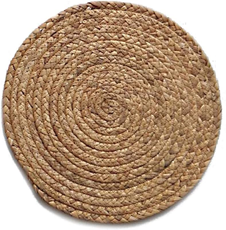 Round Woven Placemat Kitchen Table Mat Cup Coaster Natural Straw Placemats For Kitchen Dining Table Etc