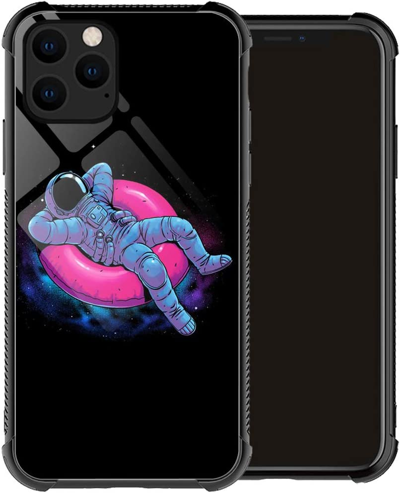 Compatible with iPhone 12 Mini Case,an Astronaut Lying in a Circle iPhone 12 Mini Cases for Men Boy,Drop Protection Pattern with Soft TPU Bumper Case for Apple iPhone 12 Mini Case 5.4-inch