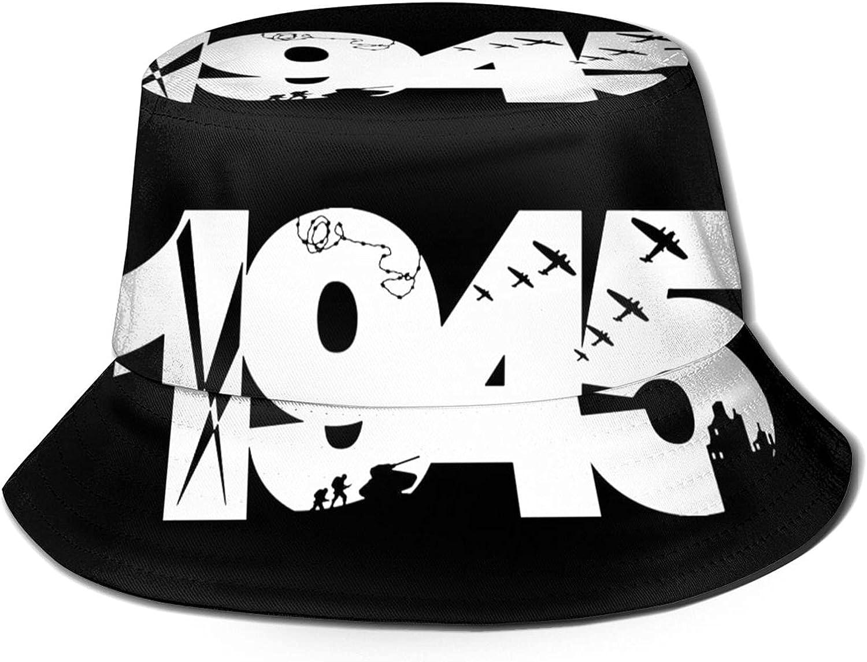 1945 Nazi Germany Commemorating The Jewish Holocaust Bucket Hats Beautiful Summer Travel Beach Sun Hat Black