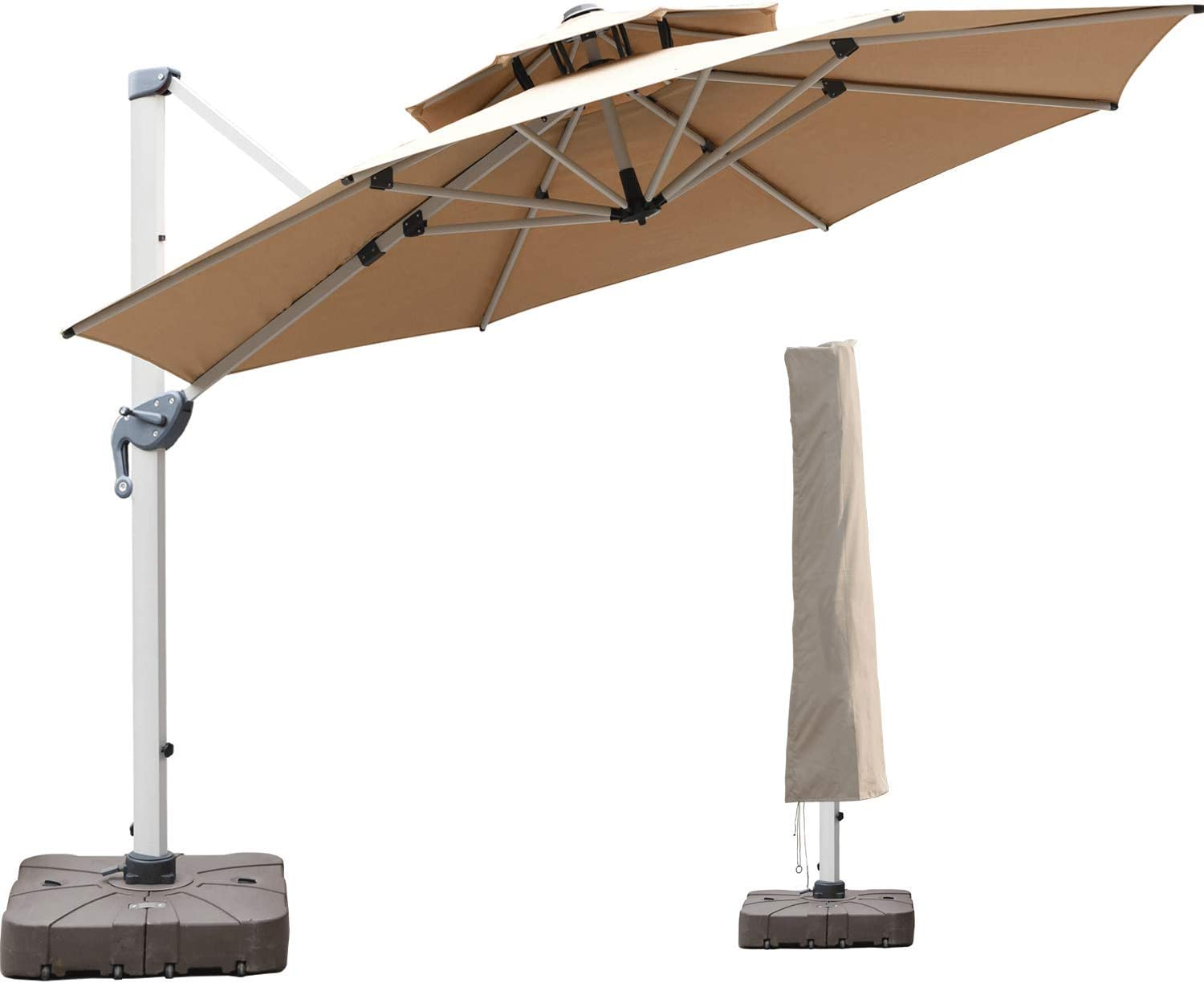 LKINBO 10 FT Offset Patio Washington Mall Credence Umbrella Cover with - 360 D Waterproof
