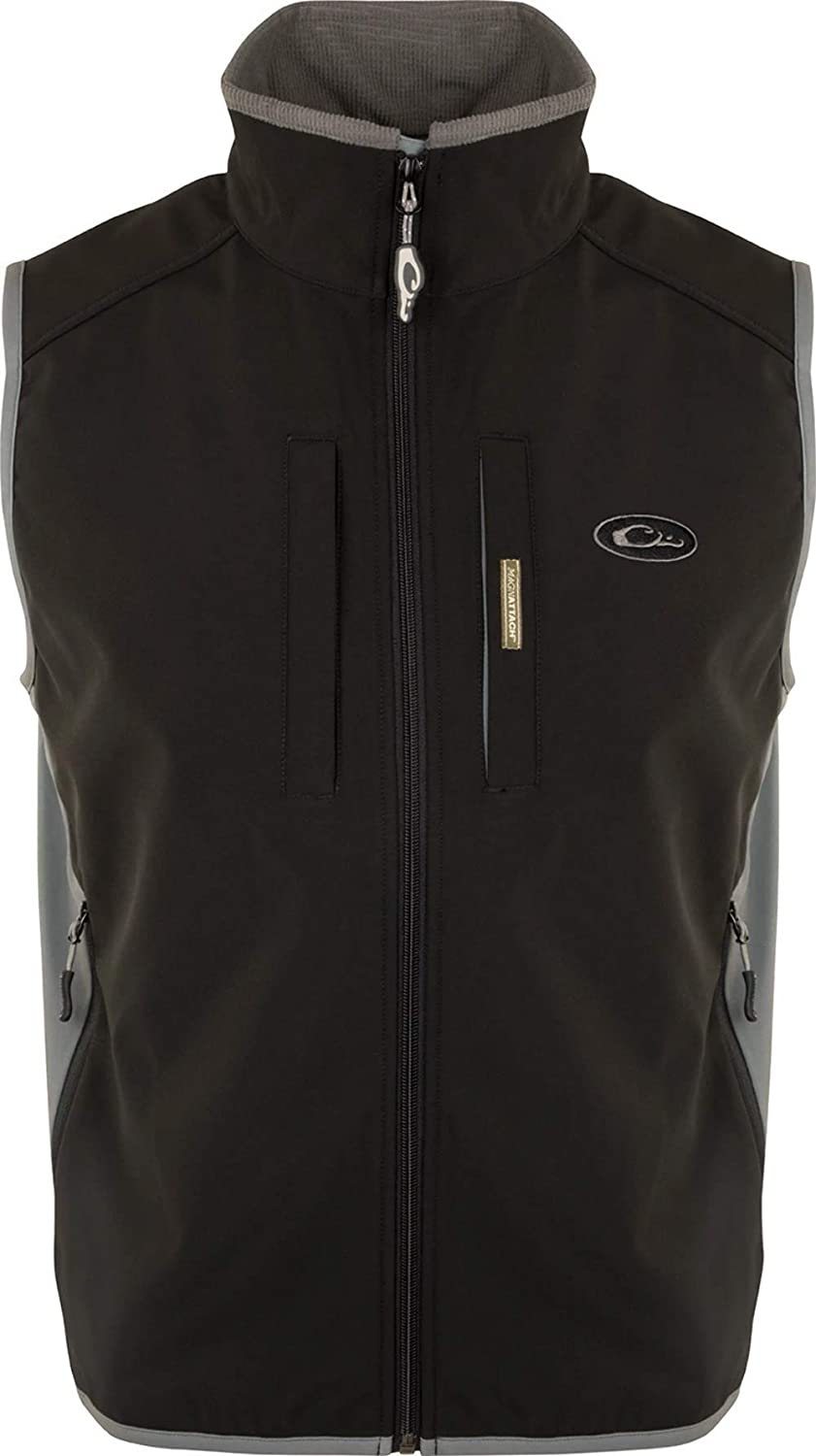 Windproof Tech Vest Black Charcoal Cheap Special price SALE Start Large