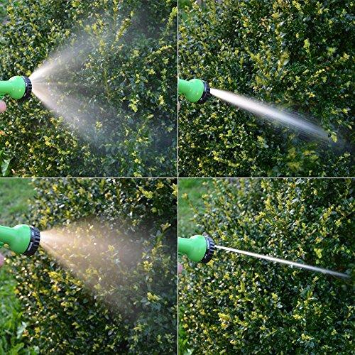 Hochwertiger Gartenschlauch Flexibler Wasserschlauch Schlauch 7-15 m inkl 7fach Multifunktions Sprühkopf - 8