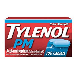 Tylenol PM Extra Strength Pain Reliever & Sleep Aid Caplets with 500 mg of Acetaminophen, 100 ct