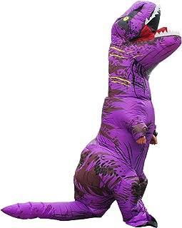 inflatable purple dinosaur
