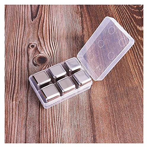 Isbitar i rostfritt stål Stones Cooler håller original smak av inte utspädda kyla kuber återanvändbara rostfritt stål isbitar kylare Behåll vinets ursprungliga smak, det outspädda kyl