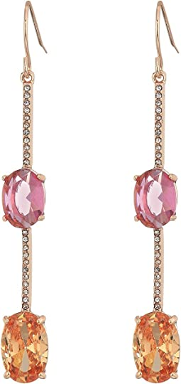 LAUREN Ralph Lauren Stone Drop with Pave Linear Earrings
