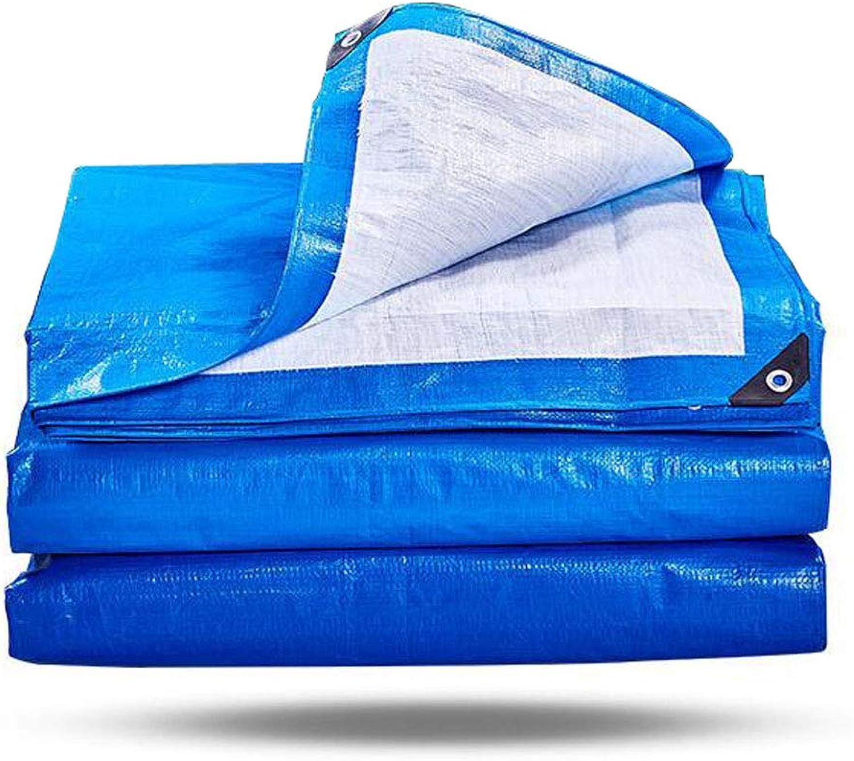 LEGOUGOU Dicke Poncho Poncho Poncho Plane Plane Plane Plane Schatten Tuch Farbe Tuch Blau Weiß Pro Quadratmeter 170g Dicke 0,3 Mm B07K2FXLLP  Ausgezeichnete Leistung 2d9d10