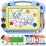 Magnetic Drawing Board for Toddlers, Travel Size Magna Doodle Board with Learning Cards & Stamps - Education Doodle Toys for Kids. Erasable Magnet Writing Sketch Table for 2 3 4 5 Year Old Boy Girl