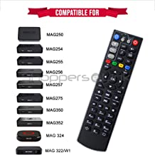 New Replacement Big Remote Control for TV Box Mag254 Mag250 Mag256 MAG 250 254 256 255 256 257 275 322 349 350 351 352 OTT IPTV Set Top Box (Qty 1)