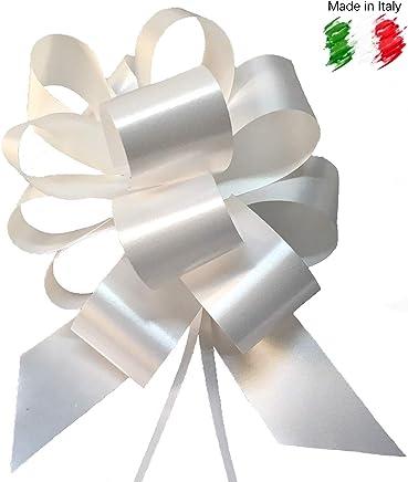 Brizzolari 50 Coccarde Bianco Autotiranti per Matrimonio Auto Nozze Laurea| Fiocco Bianco Auto, Coccarda Bianca Battesimo, Fiocco Coccarda | Facili Pronti all'Uso