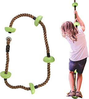 Gentle Booms Sports Climbing Rope Swing Set Accessories for Active Outdoor Play Equipment,Backyard Outdoor Climbing Rope, ...