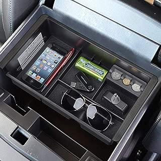 EDBETOS Center Console Organizer Tray for 2014-2018 GMC Sierra 1500 / Chevy Silverado 1500 and 2015-2019 Sierra Silverado 2500/3500 HD and 2015-2020 Chevy Suburban/Tahoe/GMC Yukon Armrest Storage Box